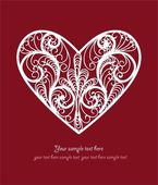 Ornamental Heart postcard — Vector de stock
