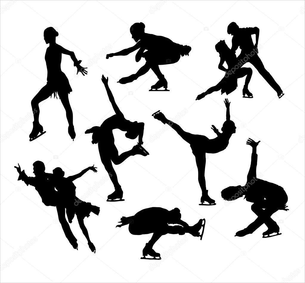 Figure Skating Silhouettes Free Figure Skating Silhouette
