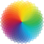 Color wheel background. Vector Illustration — Stock Vector