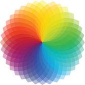 Fondo de la rueda de color. ilustración vectorial — Vector de stock