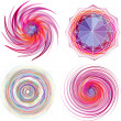 Set of four color spiral vector. — Stock Vector