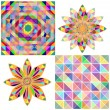 Set of four abstract background with geometric shapes. Triangle colorful mosaic backdrop. — Stock Vector #31925271