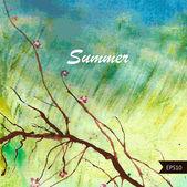 Sfondo estate. — Vettoriale Stock