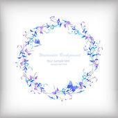 Illustrazione ad acquerello con fiori — Vettoriale Stock