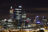 Perth City Skyline at Night — Stockfoto