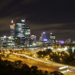 Perth City Skyline at Night — Stock Photo