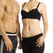 Stock Photo: Man and woman's torsos