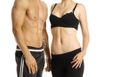 Man and woman's torsos — Stock Photo