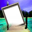 Customize Picture Frame — Stock Photo
