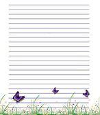 Schreibpapierpapier — Stockfoto