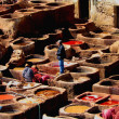 Tanneries of Fez, Morocco, Africa - Stock Photo