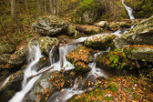Waterfall in the Appalachian Mountains in the Autumn — Stock Photo