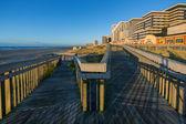 Atlantic city, strandpromenaden — Stockfoto