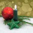 Christmas candle — Stock fotografie
