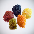 Multi-colored macaroni — Stock Photo