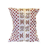 Pillow adorned with beads — Stock fotografie