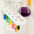 Foto Stock: Laboratory test tubes