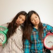 Asian women in the morning — Stock Photo