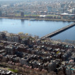 Stock Photo: Overlooking the Charles River in Boston, MA
