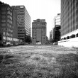 Постер, плакат: Empty undeveloped city block