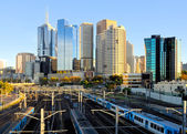 City trains in Melbourne — Stock Photo