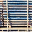 Stock Photo: Load of scaffolding pipe