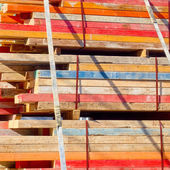 Load of contruction timber — Stock Photo