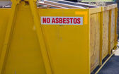 No asbestos skip bin — Stock Photo
