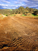 Off road driving tracks — Stock Photo