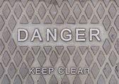 знак опасности — Стоковое фото