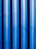 Blue stripes of a shipping container — Stock Photo