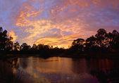 Sunrise in diamond creek — Stock Photo