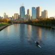 Yarra river rowers — Stock Photo #46977927