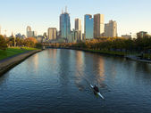Yarra river rowers — Stock Photo