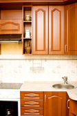 New wooden kitchen — Stockfoto