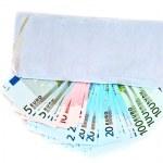 Cash money in envelope — Stock Photo