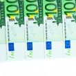 One hundred euro banknotes — Stock Photo