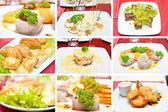 Collage av olika aptitretare — Stockfoto