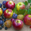 Fruit and berries closeup — Stock Photo