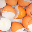Stock Photo: Broken egg shell closeup