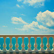 Balustrade on sea shore — Stock Photo