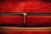 Grunge-tasche und reißverschluss-makro — Stockfoto