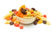 Dried fruits on isolated — Stock Photo