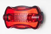 Red bike light closeup — Stock Photo