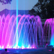 Colored  fountain at night — Stock Photo
