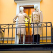 Mannequins at the balcony — Stock Photo