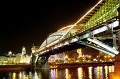 Noční město krajina s mostem — Stock fotografie