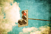 Retro image of trafficlight — Stock Photo