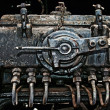 Stock Photo: Old rusty engine closeup