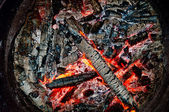 Smoldering wood — Stock Photo